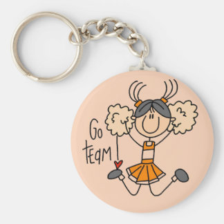 Orange Cheerleader Tshirts and Gifts Key Ring
