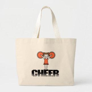 Orange Cheerleading T-shirts and Gifts Jumbo Tote Bag