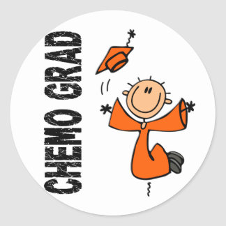 Orange CHEMO GRAD 1 (Leukemia) Classic Round Sticker