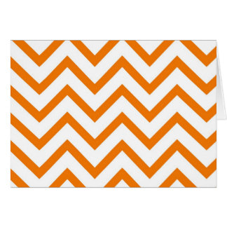 Orange Chevron Zig Zag Greeting Card