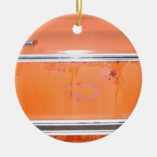 Orange Chevy Truck Door Christmas Ornament