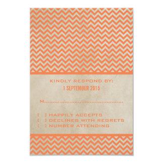 Orange Chic Chevron Response Card