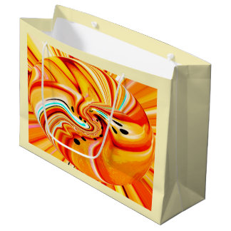 Orange chic large gift bag