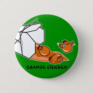 Orange Chicken Escape 6 Cm Round Badge