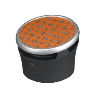 Orange chocolate chip cookies pattern bluetooth speaker
