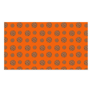Orange chocolate chip cookies pattern business card templates