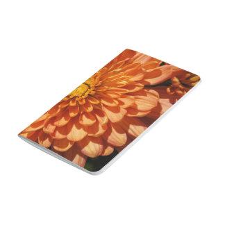 Orange Chrysanthemum Autumn Floral Pocket Journal