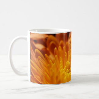 Orange Chrysanthemum White Mug Cup