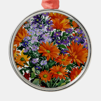 Orange Chrysanthemums Christmas Ornament