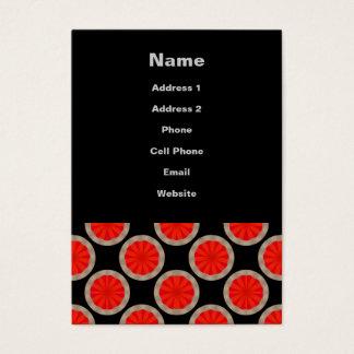 orange circle pattern business card