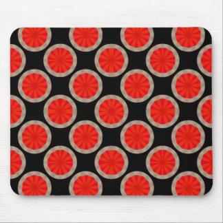 orange circle pattern mouse mat