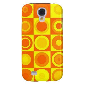 Orange circles galaxy s4 case