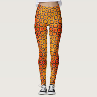 Orange Circles Leggings