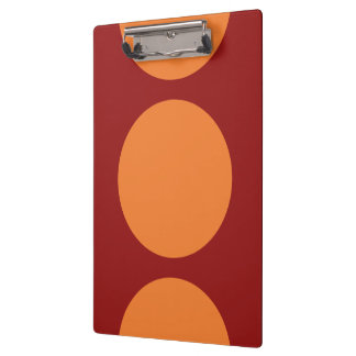 Orange Circles on Red Clipboard