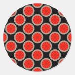 orange circles round sticker