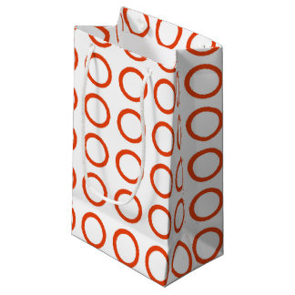 Orange Circles Small Gift Bag