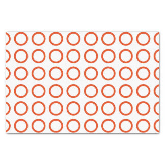 Orange Circles Tissue Paper