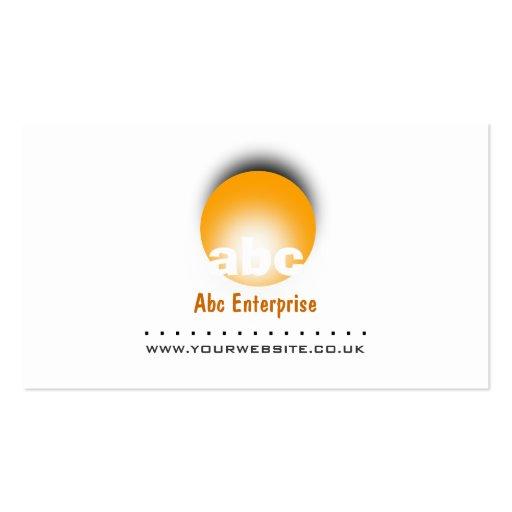 Orange Circular Logo Business Card