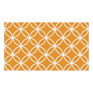 Orange Circular Pattern Pack Of Standard Business Cards