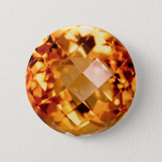 Orange Citrine 6 Cm Round Badge