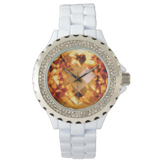 Orange Citrine Watch