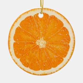 Orange citrus ornament