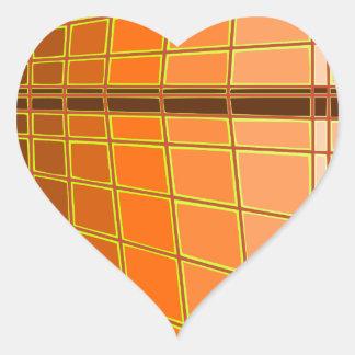Orange city heart sticker