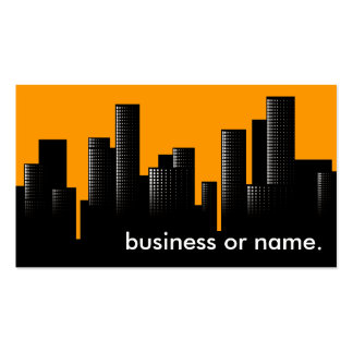 orange cityscape pack of standard business cards