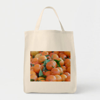 Orange clementines, tangerines wild duck green tote bag