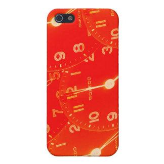 Orange Clock Face Case For iPhone 5/5S