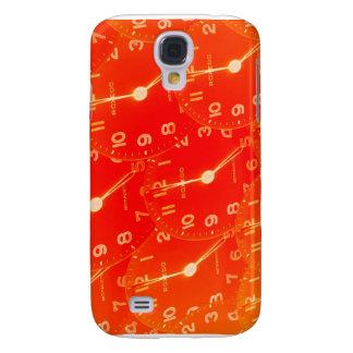 Orange Clock Face Galaxy S4 Case