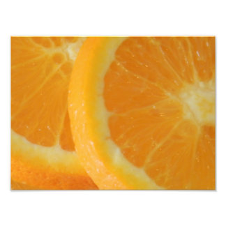 Orange Closeup Photo Print
