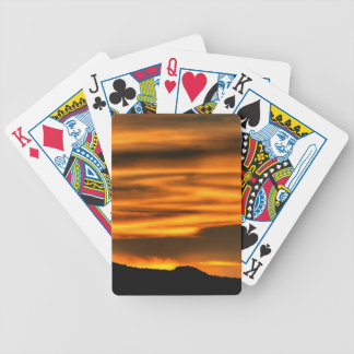 Orange Cloud Lines Bicycle Playing Cards