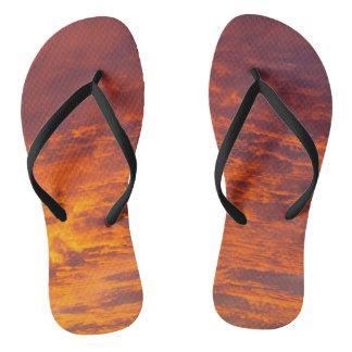 Orange clouds flip flops