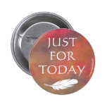 Orange Clouds White Feather - Just For Today Pins