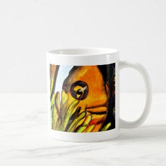 Orange Clown Fish watercolor original art painting Basic White Mug