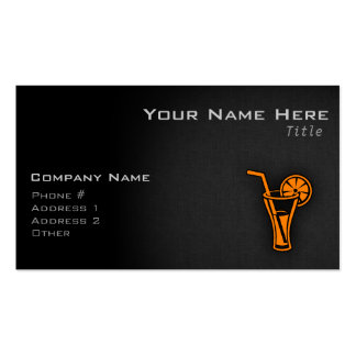 Orange Cocktail Double-Sided Standard Business Cards (Pack Of 100)
