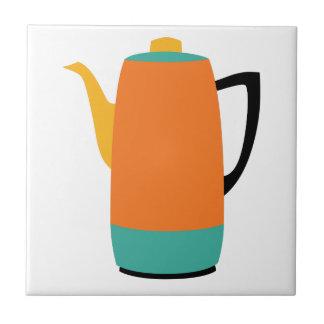 Orange Coffee Percolator Tile