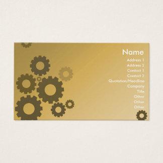 Orange Cogs - Business Business Card