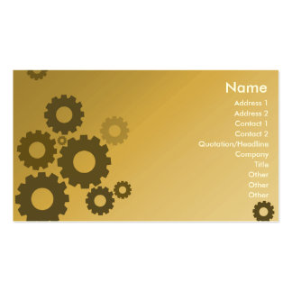 Orange Cogs - Business Pack Of Standard Business Cards