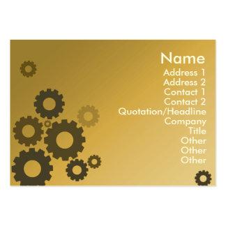 Orange Cogs - Chubby Business Card