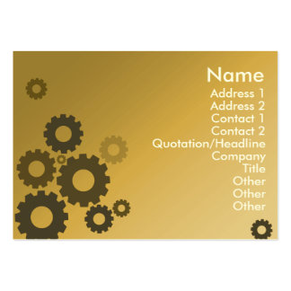 Orange Cogs - Chubby Pack Of Chubby Business Cards