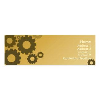 Orange Cogs - Skinny Pack Of Skinny Business Cards