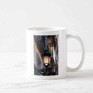 Orange colonial street lamp Madrid Coffee Mugs