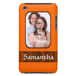 Orange color personalized barely there iPod cover