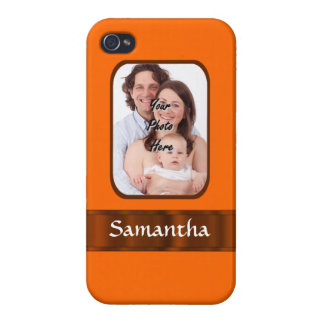 Orange color personalized case for iPhone 4