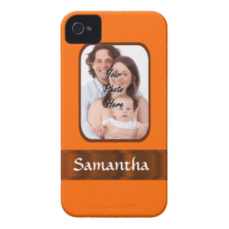 Orange color personalized iPhone 4 cover