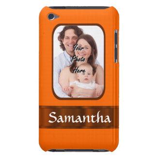 Orange color personalized iPod Case-Mate cases