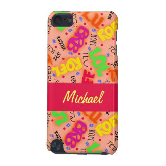 Orange Colorful Electronic Texting Art Abbreviatio iPod Touch (5th Generation) Case