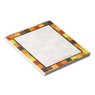 Orange Colour Blocks Personalised Notepad